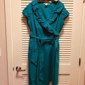 Cotton Ruffles Wrap Dress